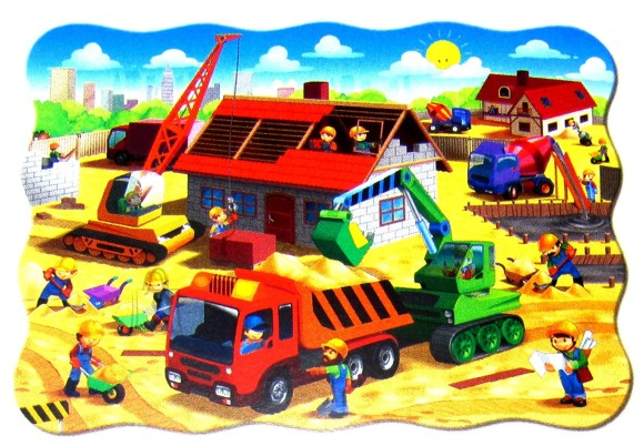 Castorland Puzzle 30 House in Construction 03686