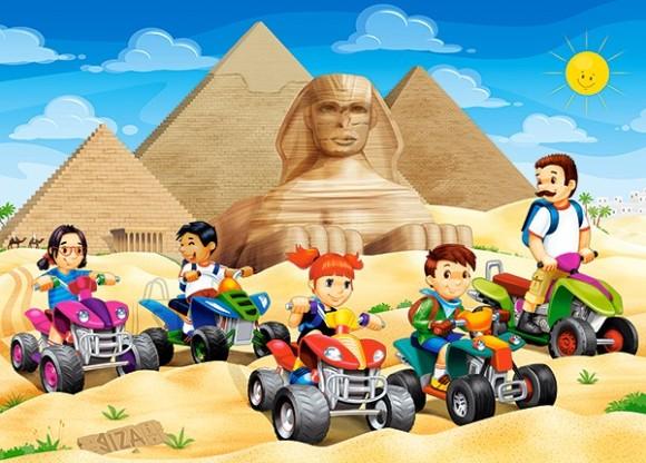 Castorland Puzzle 60 Quad Bikes at Giza Pyramids 066018