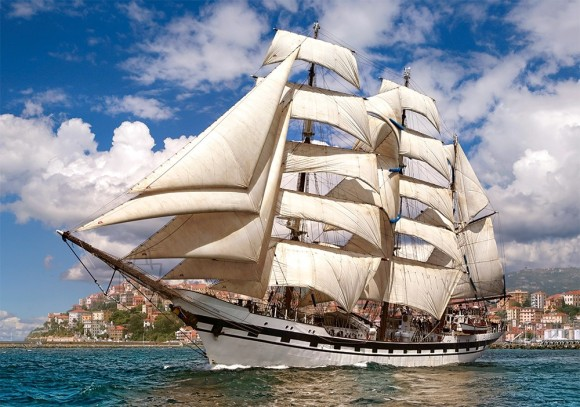 Castorland Puzzle 500 Tall Ship Leaving Harbour 52851