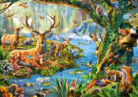 Castorland Puzzle 500 Forest Life 52929