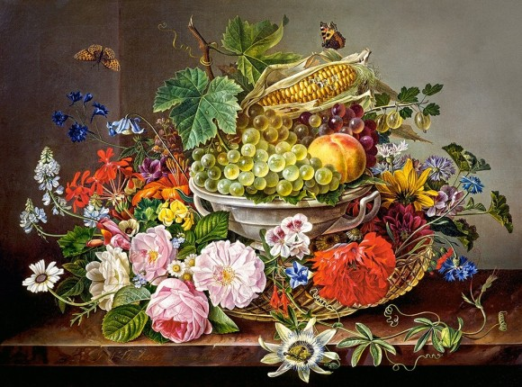 Castorland Puzzle 2000 Still Life with Flowers and Fruit Basket 200658
