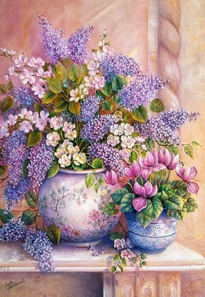 Castorland 151653. Puzzle 1500 Lilac Flowers