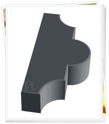 1/1p  PLASTVORM RISTIKHEIN KROBELINE 2 POOLIKUT 26,7x21,8x6cm