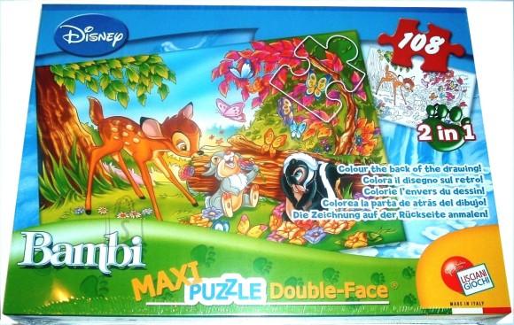 Lisciani Giochi PUZZLE 2in1 108TK MAXI BAMBI 5818