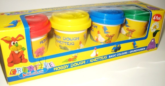 7386. VOOLIMISSAVI 4 värvi 55gr HOBBY DOUGH
