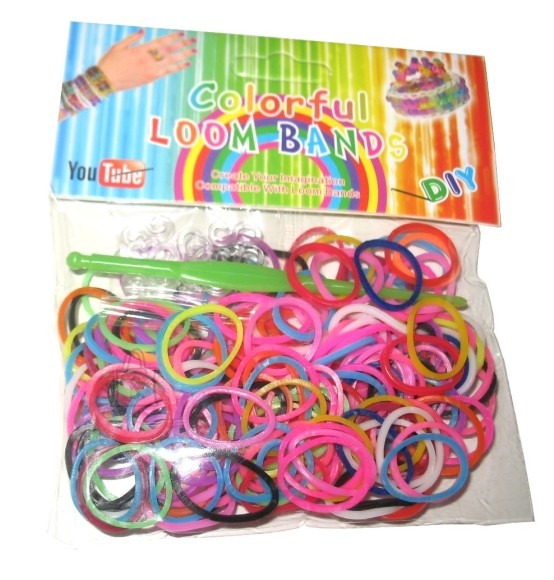 HEEGELDUS-PUNUMISKUMMID 200tk COLORFUL LOOM BAND 8296