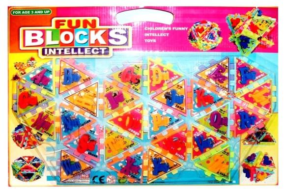 2084. Klotsid tähtedega Fun Blocks 0521