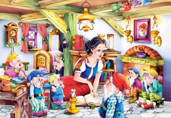Castorland Puzzle 500 Lumivalgeke ja 7 pöialpoissi 50031