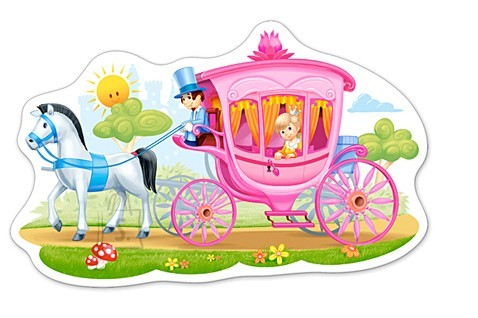 Castorland Puzzle 15 Princess in a Carriage 015122