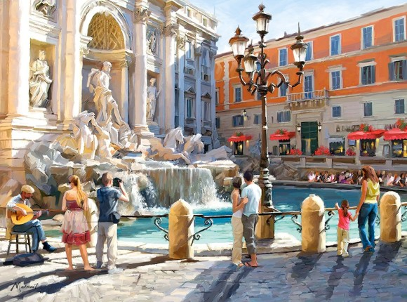 Castorland 300389. Puzzle 3000 The Trevi Fountain