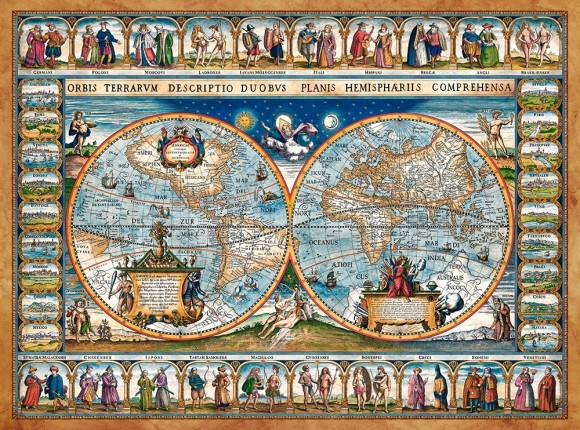 Castorland Puzzle 2000 Map of the world,1639  200733