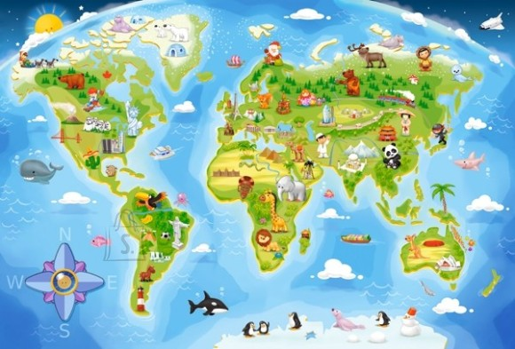 Castorland 040117. Puzzle 40 World Map