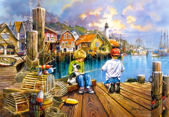 Castorland Puzzle 1000 At the Dock 104192