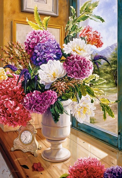 Castorland 104444. Puzzle 1000 Still Life with Hydrangeas