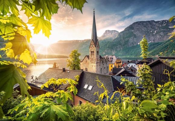 Castorland 104543. Puzzle 1000 Postcard from Hallstatt