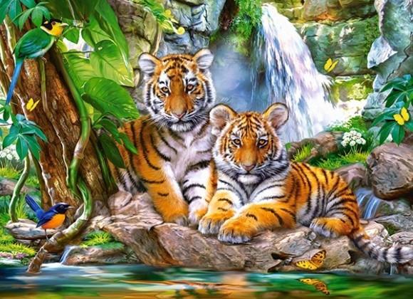 Castorland Puzzle 300 Tiger Falls 030385