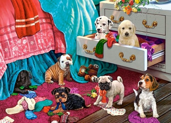 Castorland Puzzle 300 Puppies in the Bedroom 030392