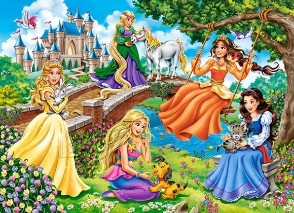 Castorland Puzzle 70 Princesses in Garden 070022