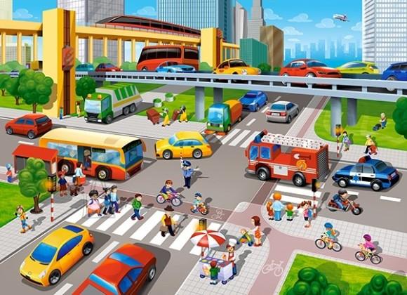 Castorland 070039. Puzzle 70 City Rush