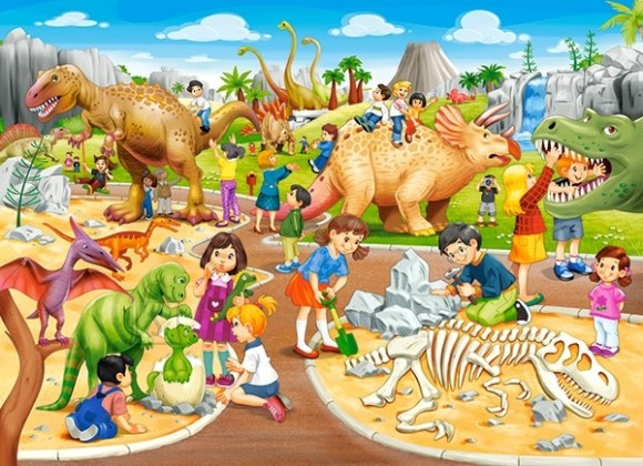 Castorland 070046. Puzzle 70 Dinosaur Park