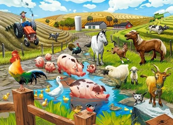 Castorland 070060. Puzzle 70 Life on the Farm