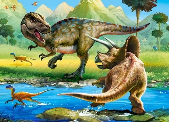 Castorland 070084. Puzzle 70 Tyrannosaurus vs Triceratops