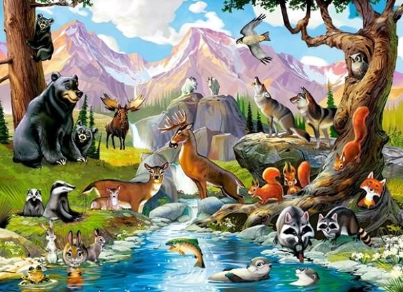 Castorland 070091. Puzzle 70 Forest Animals