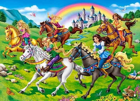 Castorland 111053. Puzzle 100 Princess Horse Ride