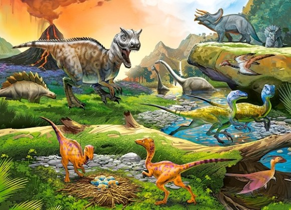 Castorland 111084. Puzzle 100 World of Dinosaurs
