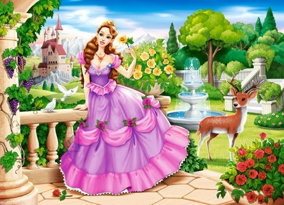 Castorland 111091. Puzzle 100 Princess in the Royal Garden