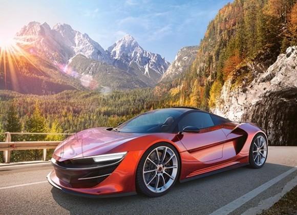 Castorland 111107. Puzzle 100 Sports Car