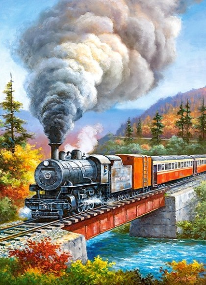 Castorland Puzzle 200 Train Crossing 222070