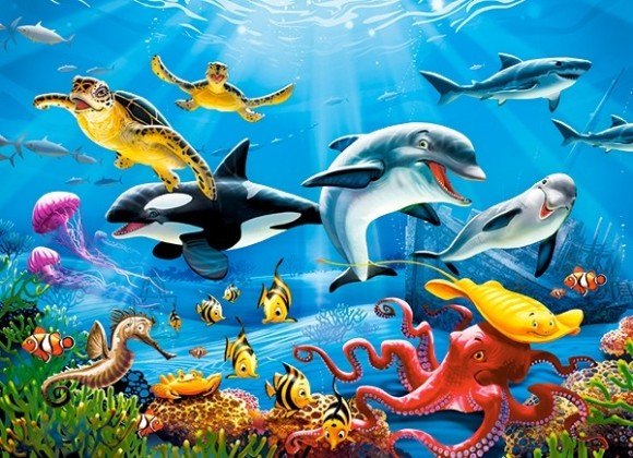 Castorland 222094. Puzzle 200 Tropical Underwater World