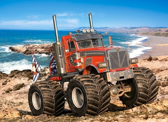 Castorland 222100. Puzzle 200 Monster Truck on the Rocky Coast