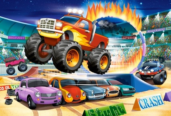 Castorland Puzzle 40 Jumping Monster Truck 040308