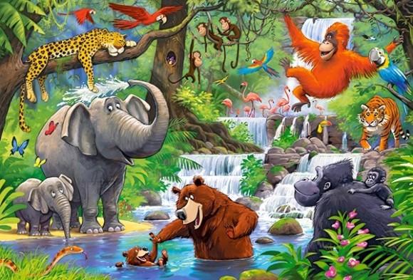 Castorland 040315. Puzzle 40 Jungle Animals