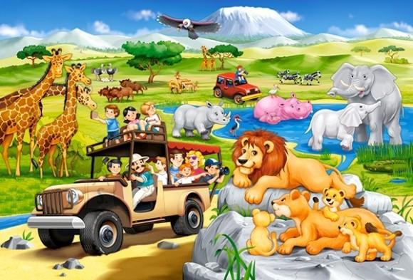 Castorland 040322. Puzzle 40 Safari Adventure