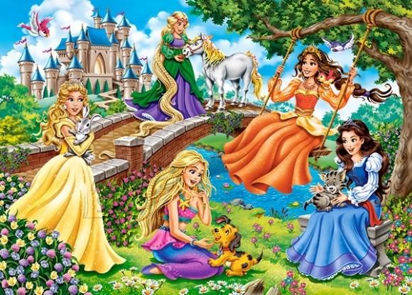 Castorland Puzzle 180 Princesses in Garden 18383