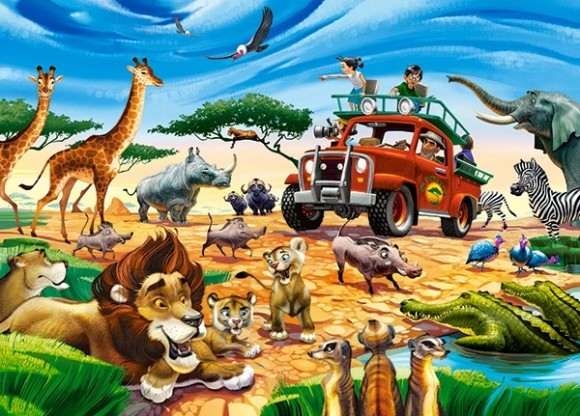 Castorland 18390. Puzzle 180 Safari Adventure