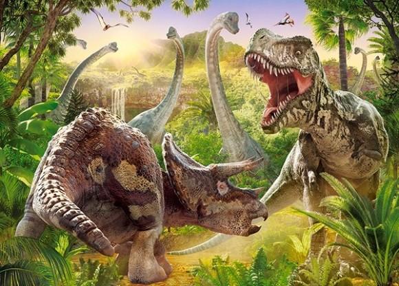 Castorland 18413. Puzzle 180 Dinosaur Battle