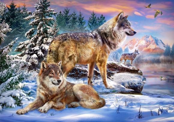 Castorland 53049. Puzzle 500 Wolfish Wonderland