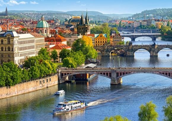 Castorland 53087. Puzzle 500 View of Bridges in Prague