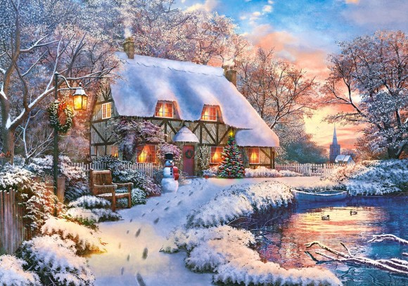 Castorland Puzzle 500 Winter Cottage 53278