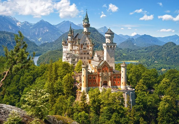 Castorland Puzzle 500 View of the Neuschwanstein Castle, Germany 53544