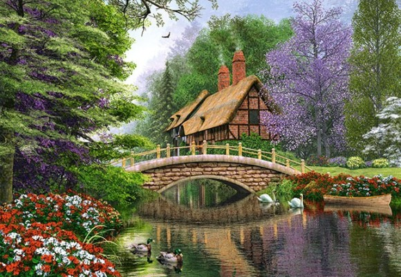 Castorland Puzzle 1000 River Cottage 102365