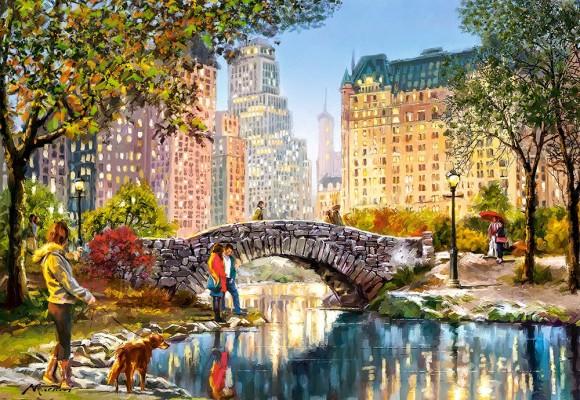 Castorland Puzzle 1000 EVENING WALK THROUGH CENTRAL PARK 104376