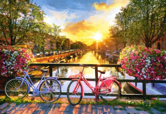 Castorland Puzzle 1000 PICTURESQUE AMSTERDAM WITH BICYCLES 104536