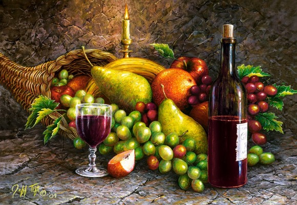 Castorland Puzzle 1000 FRUIT AND WINE 104604