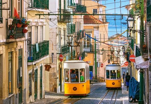 Castorland Puzzle 1000 LISBON TRAMS, PORTUGAL 104260