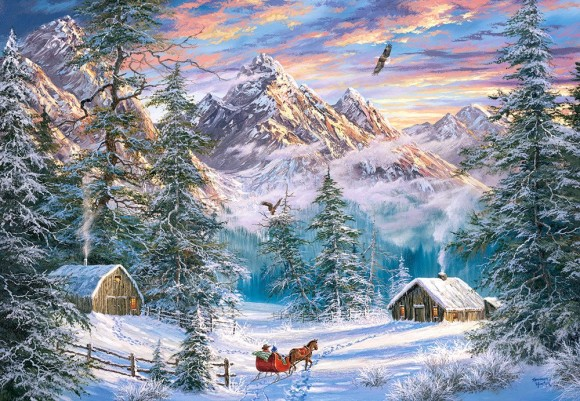 Castorland Puzzle 1000 MOUNTAIN CHRISTMAS 104680